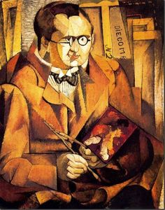 Portrait of the painter Zinoviev, 1913 / Diego Rivera