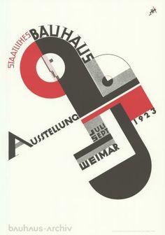 Joost Schmidt » Bauhaus Ausstellung 1923 » ehibition poster