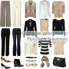 How To Create Capsule Wardrobes - very useful when packing for travel