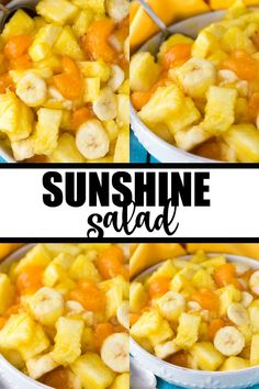 Sunshine Salad - A delicious fruit salad that is only 2 Weight Watchers Points Plus per one cup serving. Sunshine Salad - A delicious fruit salad that is only 2 Weight Watchers Points Plus per one cup serving. Winter Fruit Salad, Best Fruit Salad, Summer Salads With Fruit, Spinach Salad Recipes, Asparagus Recipe, Chicken Salad Recipes, Asparagus Salad, Honey Recipes, Fruit Recipes