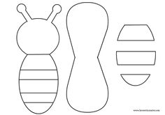 Impertinent image regarding printable bumble bee cutouts