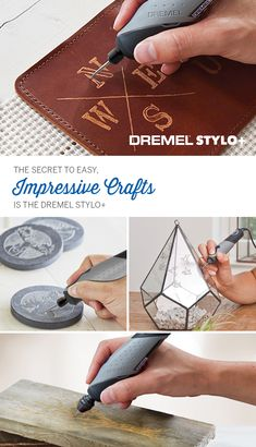 The secret to amazing homemade gifts and easy crafts is at your fingertips with the Dremel Stylo+. With a lightweight, ergonomic design, it makes easy work of personalizing leather, wood, glass, stone and more. Pick up yours today for endless summer crafting fun. #crafting #craftideas #diy #gifts