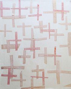 Patrick Brennan Crosses, circa. 2013 Acrylic, Mylar on canvas