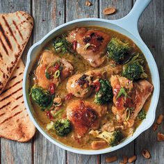 Chicken, broccoli and peanut-butter curry