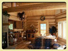 hout, warm, gezellig. echt een western gevoel