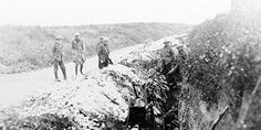 Photo: Newfoundland soldiers in St. John's Road support trench before their attack at Beaumont-Hamel. July 1, 1916. Courtesy of the Provinci...