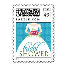 Wedding Gown Bridal Shower Invite Stamp (aqua) In our offer link above you will seeShopping          	Wedding Gown Bridal Shower Invite Stamp (aqua) Review from Associated Store with this Deal...