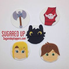 How To Train Your Dragon Fondant Cupcake Toppers