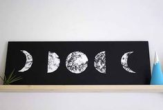 phases of the moon canvas