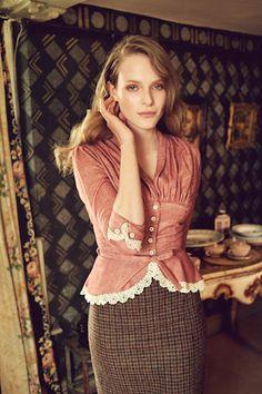 "AW 16/17 ""The Brits"" Catalogue   ""Lovely Blouse, tea rose"", ""Camilla Skirt""  http://shop.lenahoschek.com/"