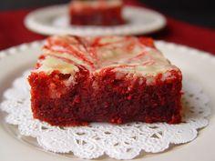 Red Velvet Cream Cheese Brownies