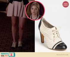 Hanna's two tone oxford heels on Pretty Little Liars.  Outfit Details: http://wornontv.net/34018/ #PLL
