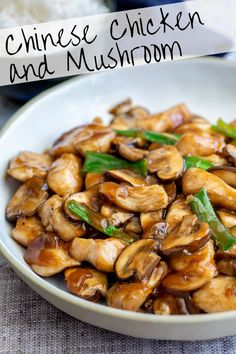 With this Takeout Style, Chinese Chicken and Mushrooms stir fry, you can have a . With this Takeout Style, Chinese Chicken and Mushrooms stir fry, you can have a healthy Asian chick Chinese Chicken Recipes, Easy Chinese Recipes, Chinese Slow Cooker Recipes, Chinese Meals, Authentic Chinese Recipes, Chinese Food Dishes, Healthy Chinese Food, Crockpot Asian Recipes, Chinese Chicken Stir Fry