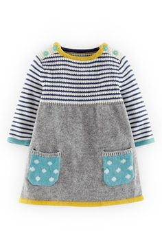 Mini Boden Sweet Knit Sweater Dress (Baby Girls). Kann man auch mal nachstricken, z.B. aus Sandnesgarn Lanett: https://www.babygarne.de/garne.php?artikel=sandnesgarn-lanett-babywolle