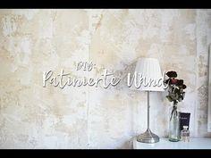 DIY Wandgestaltung - Eine Wand patinieren. #FauxPainting - YouTube