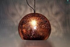 Bolvormige Egyptische Hanglamp