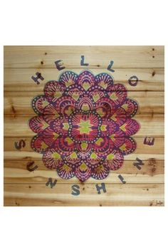 Hello Sunshine Brown Distressed Wood Wall Art