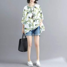 Womens Pineapple Print Top Batwing Top, Batwing Sleeve, Only Fashion, Womens Fashion, Pineapple Print, Trendy Tops, Bat Wings, Street Style Women, Fashion Outfits