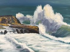 Sea Spray by Barbara Magor - Paint a seascape or harbour scene to win copies of David Bellamy books from Search Press Painting Competition, Sea Spray, Art Courses, Seascape Paintings, Local Artists, Countryside, David, Scene, Search
