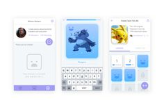 Duolingo Tinycards Facial Expressions UI Mockups