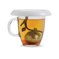 Amazon.com: Chef'n Tea Tree Tea Infuser and Saucer, Stainless: Tea Ball Strainers: Kitchen & Dining