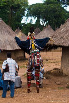 Beento & seen. Stilt Dancer of Cote d'Ivoire