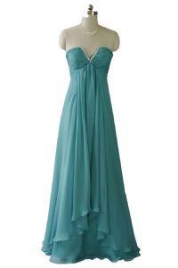 Qpid Showgirl Aqua Green Strapless Maxi Gown Evening Dress Prom Bridesmaid Dress 1271GN