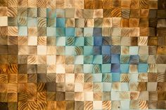 Parete di legno moderna Art mosaico in legno di ArtGlamourSligo