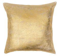 Metallic 43x43cm Filled Cushion Gold | Manchester Warehouse