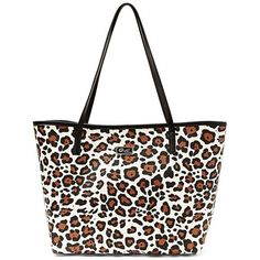 Luv Betsey Leopard Lexi Tote ($55) ❤ liked on Polyvore featuring bags, handbags, tote bags, leopard, leopard print purse, betsey johnson purses, betsey johnson tote, tote handbags and handbags totes