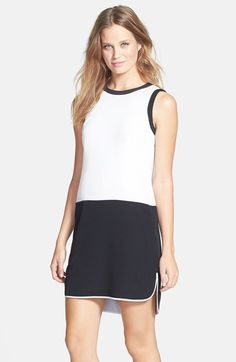 Free shipping and returns on CeCe by Cynthia Steffe 'Betts' Colorblock Shift Dress at Nordstrom.com. Stark color blocking divides the sleeveless bodice of a sporty shift dress from its high/low step-hem skirt. beautymommy.com
