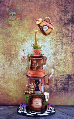 Steampunk Alice - Cake by Karen Keaney