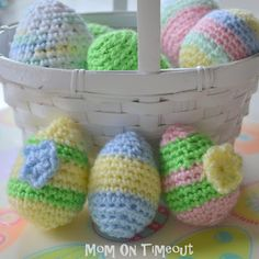 Crocheted Easter Eggs & Pattern