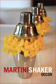 """COOL! Mini (""""personal"""") cocktail shakers + floral foam..."""