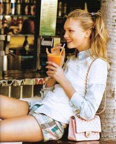 Gemma Ward byPatrick Demarchelier for Teen Vogue, 2006.