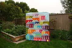 Hillside Housesquilt top from Grace and Favour; nice!
