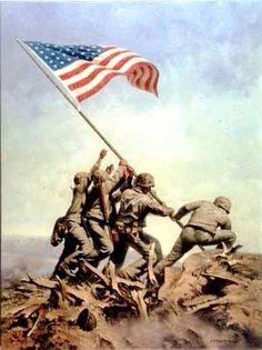 Uncommon Valor - Roy Grinnell: the raising of the flag on Mt Suribachi, Iwo Jima in February Usa Flag Images, Iwo Jima Flag, Navy Special Forces, Battle Of Iwo Jima, Patriotic Pictures, Military Pictures, Us Marine Corps, American Spirit, Usmc