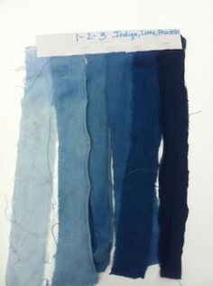 Using denim to illustrate the effect of fading out with blue tones from deep indigo to progressively lighter hues Azul Indigo, Bleu Indigo, Indigo Colour, Indigo Dye, Denim Colour, Colour Gradient, Navy Colour, Kind Of Blue, Blue And White