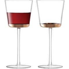 LSA Edge Red Wine Glass 325ml Set of 2 - Rose Gold (360 MAD) ❤ liked on Polyvore featuring home, kitchen & dining, drinkware, gold, lsa international, twin pack, set of 2 wine glasses, wedding wine glass and rose gold wine glasses