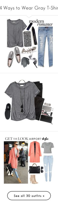 """24 Ways to Wear Gray T-Shirts"" by polyvore-editorial ❤ liked on Polyvore featuring waystowear, graytshirts, Hollister Co., Abercrombie & Fitch, Keds, Kamushki, Anna Sui, modern, Wrap and Isabel Marant"