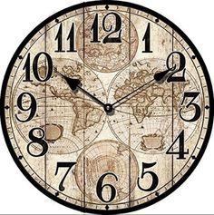 1000 id es sur le th me carte murale du monde sur - Horloge murale geante design ...
