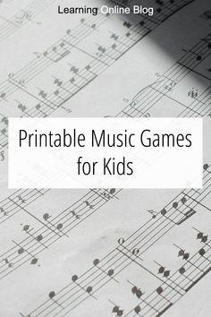Printable Music Games for Kids