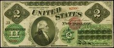 United States Notes - 1862 Two Dollar Legal Tender Note, Alexander Hamilton