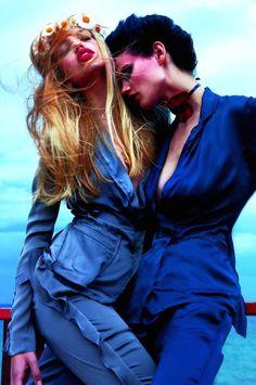 Lara Stone, Daria Werbowy, Natasha Poly, Freja Beha Erichsen, Daphne Groeneveld, Saskia De Brauw, Joan Smalls, Sasha Pivovarova by Mario Sorrenti for Vogue Paris February 2011
