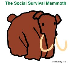 Taming your Mammoth, a humorous yet helpful article on letting go of the need for social acceptance, and listening to your inner voice which may lead to a happier you!