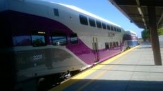ACE Train 5 with Car 3220 in Phase II paint at SJC.