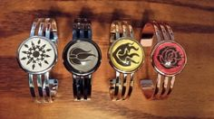 RWBY inspired bracelets by aioralium on Etsy, $35.00. Adorable!