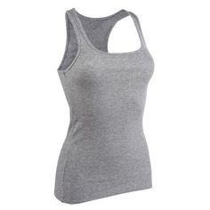 d88e0757bba Deportes Fitness - Camiseta Sin Mangas Gimnasia Pilates Domyos 500 Gris  Mujer