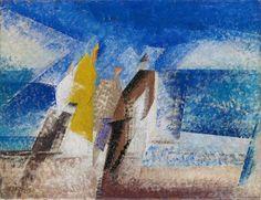Lyonel Feininger, ON THE BEACH