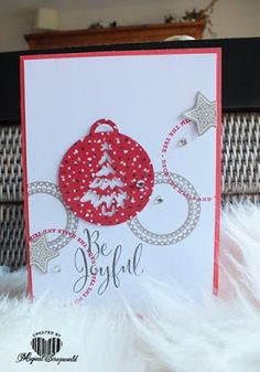 Magical Scrapworld, Be joyful. candy cane lane, cards, merriest wishes, Stampin' Up!